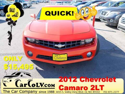 2012 Chevrolet Camaro for sale at The Car Company in Las Vegas NV