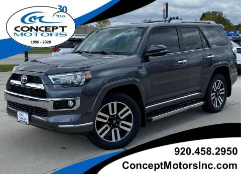 2016 Toyota 4Runner for sale at CONCEPT MOTORS INC in Sheboygan WI