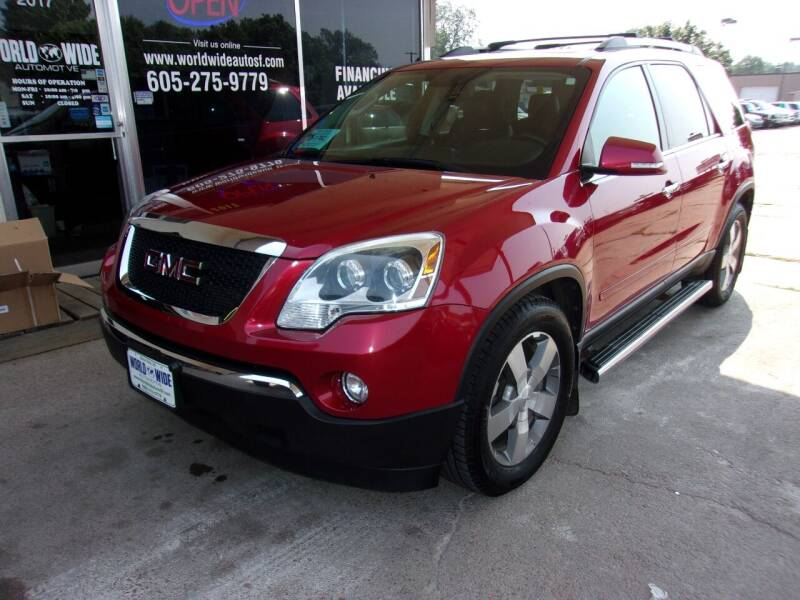 2012 GMC Acadia for sale at World Wide Automotive in Sioux Falls SD