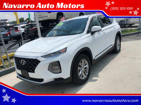 2019 Hyundai Santa Fe for sale at Navarro Auto Motors in Hialeah FL