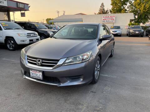2015 Honda Accord for sale at Adams Auto Sales in Sacramento CA