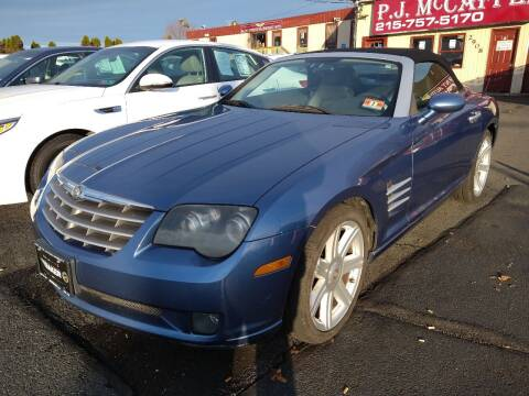 2005 Chrysler Crossfire for sale at P J McCafferty Inc in Langhorne PA