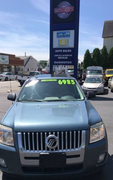2010 Mercury Mariner for sale at Ramstroms Service Center in Worcester MA