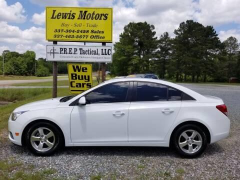 2013 Chevrolet Cruze for sale at Lewis Motors LLC in Deridder LA
