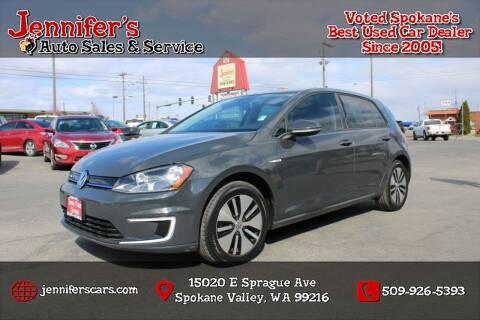 2016 Volkswagen e-Golf for sale at Jennifer's Auto Sales in Spokane Valley WA