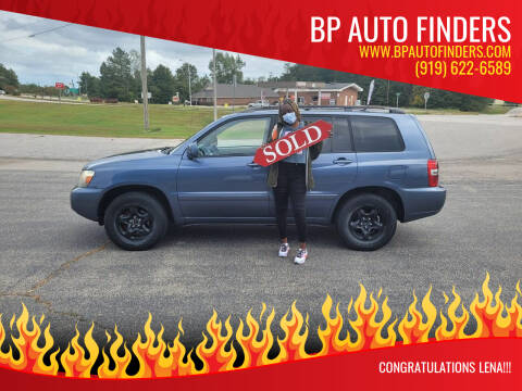 2004 Toyota Highlander for sale at BP Auto Finders in Durham NC