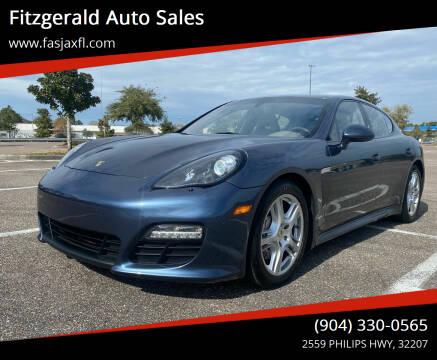 2012 Porsche Panamera for sale at Fitzgerald Auto Sales in Jacksonville FL