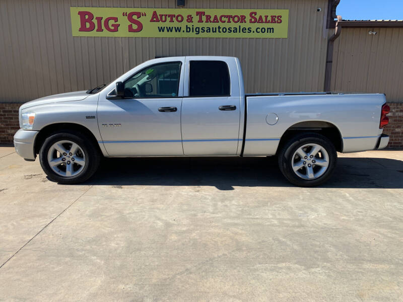 2008 Dodge Ram Pickup 1500 for sale at BIG 'S' AUTO & TRACTOR SALES in Blanchard OK