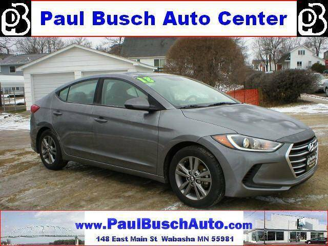 2018 Hyundai Elantra for sale at Paul Busch Auto Center Inc in Wabasha MN