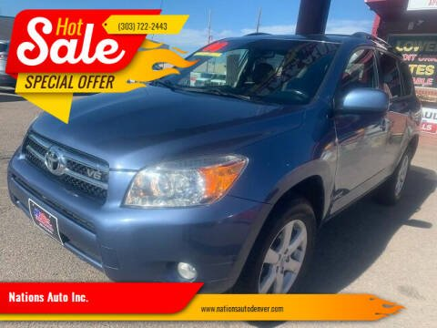 2008 Toyota RAV4 for sale at Nations Auto Inc. in Denver CO