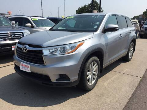 2014 Toyota Highlander for sale at De Anda Auto Sales in South Sioux City NE