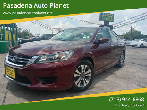 2015 Honda Accord for sale at Pasadena Auto Planet in Houston TX