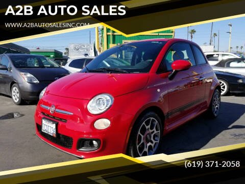 2012 FIAT 500 for sale at A2B AUTO SALES in Chula Vista CA