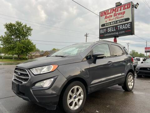 2018 Ford EcoSport for sale at Unlimited Auto Group in West Chester OH