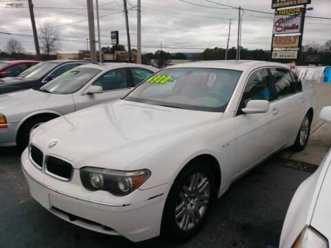 2002 BMW 7 Series for sale at AUTOPLEX 528 LLC in Huntsville AL