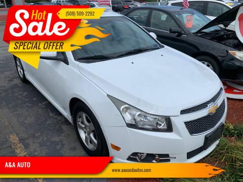 2012 Chevrolet Cruze for sale at A&A AUTO in Fairhaven MA