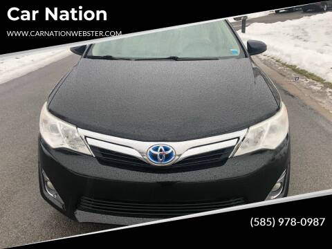 2012 Toyota Camry Hybrid for sale at Car Nation in Webster NY