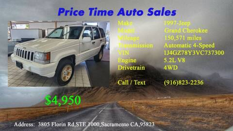 1997 Jeep Grand Cherokee for sale at PRICE TIME AUTO SALES in Sacramento CA