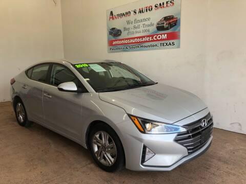 2019 Hyundai Elantra for sale at Antonio's Auto Sales in South Houston TX