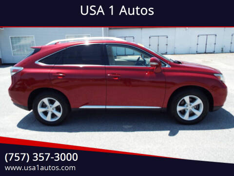 2012 Lexus RX 350 for sale at USA 1 Autos in Smithfield VA