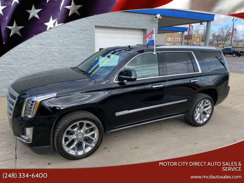 2018 Cadillac Escalade for sale at Motor City Direct Auto Sales & Service in Pontiac MI