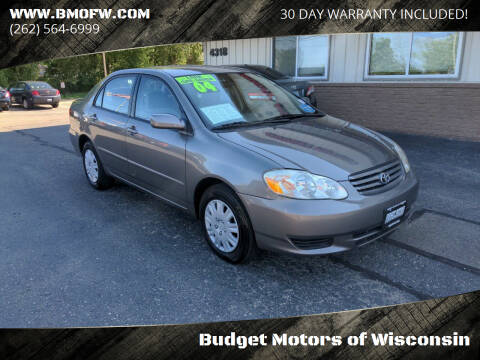 2004 Toyota Corolla for sale at Budget Motors of Wisconsin in Racine WI