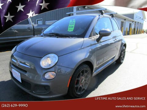 2012 FIAT 500 for sale at Lifetime Auto Sales and Service in West Bend WI
