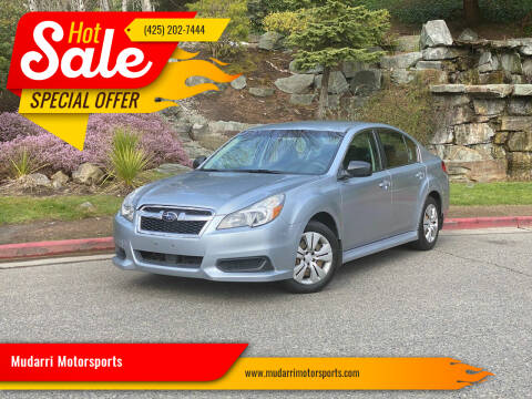 2013 Subaru Legacy for sale at Mudarri Motorsports in Kirkland WA