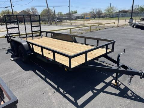2021 P &C TRAILER & REPAIR 77X16 TANDEM for sale at Lipscomb Powersports in Wichita Falls TX