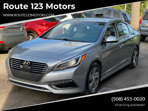 2016 Hyundai Sonata Hybrid for sale at Route 123 Motors in Norton MA