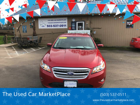 2012 Ford Taurus for sale at The Used Car MarketPlace in Newberg OR