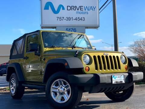 2008 Jeep Wrangler for sale at Driveway Motors in Virginia Beach VA
