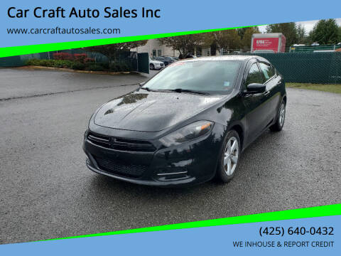 2015 Dodge Dart for sale at Car Craft Auto Sales Inc in Lynnwood WA
