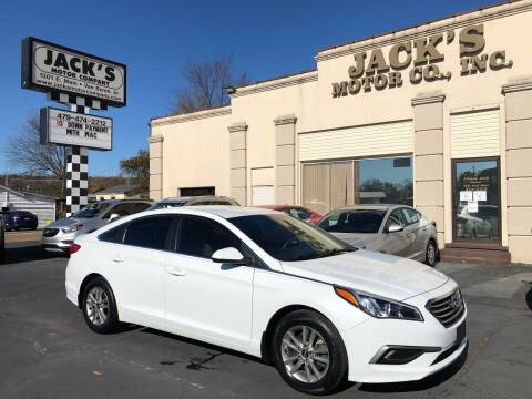2017 Hyundai Sonata for sale at JACK'S MOTOR COMPANY in Van Buren AR