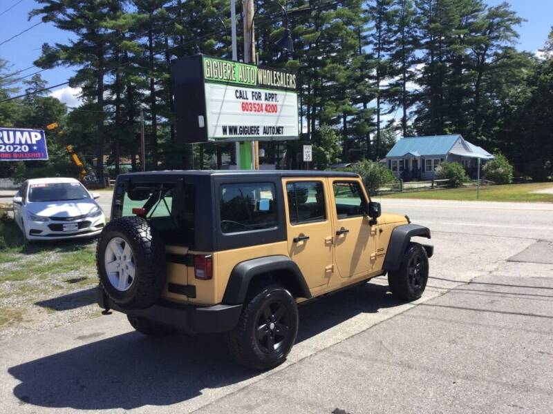 2013 Jeep Wrangler Unlimited for sale at Giguere Auto Wholesalers in Tilton NH