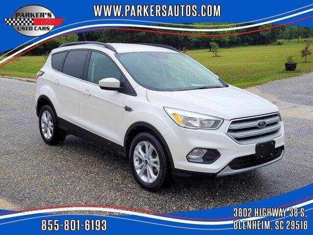 2018 Ford Escape for sale at Parker's Used Cars in Blenheim SC