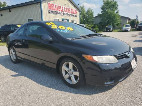 2008 Honda Civic for sale at Reliable Cars Sales in Michigan City IN