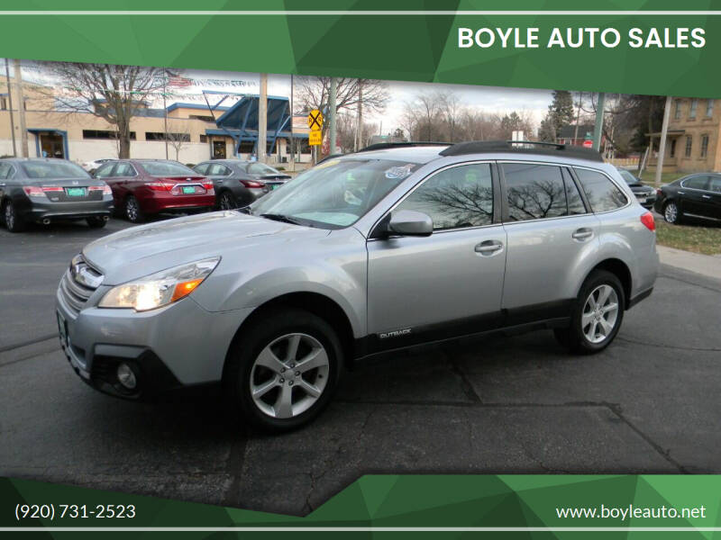 2013 Subaru Outback for sale at Boyle Auto Sales in Appleton WI