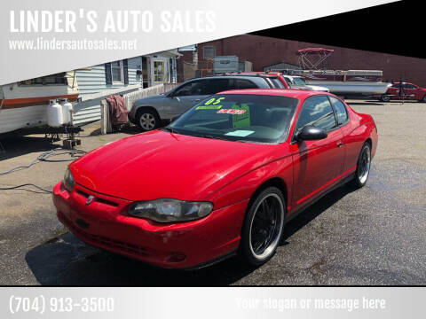 2005 Chevrolet Monte Carlo for sale at LINDER'S AUTO SALES in Gastonia NC