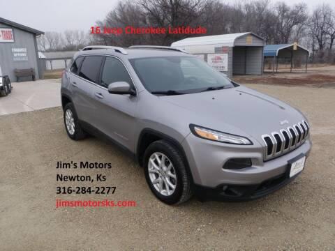 2016 Jeep Cherokee for sale at Jim's Motors in Newton KS