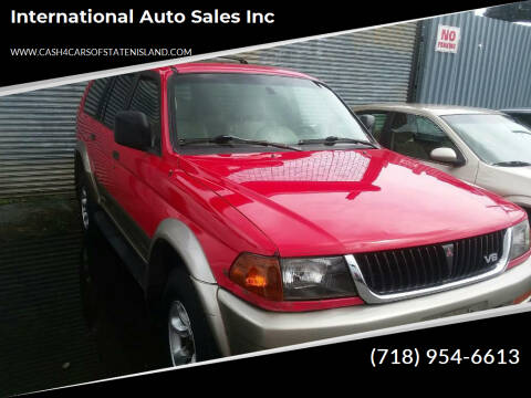 1998 Mitsubishi Montero Sport for sale at International Auto Sales Inc in Staten Island NY