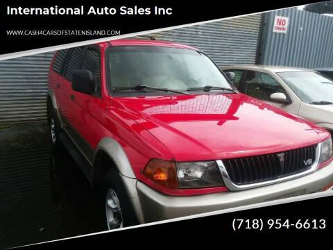 1998 Mitsubishi Montero Sport for sale at International Auto Sales Inc in Staten Island NY
