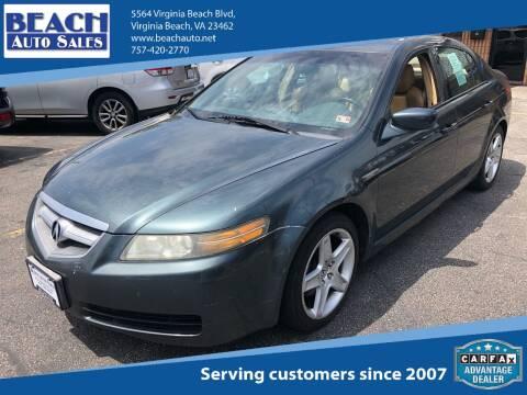 2004 Acura TL for sale at Beach Auto Sales in Virginia Beach VA