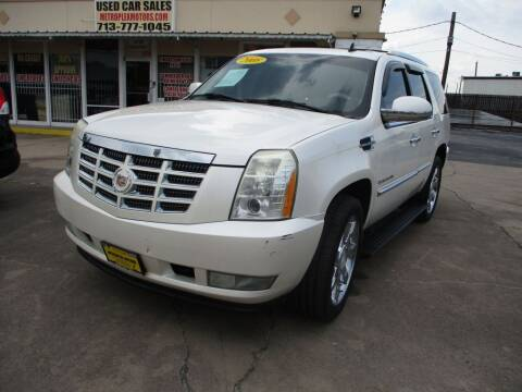 2008 Cadillac Escalade for sale at Metroplex Motors Inc. in Houston TX