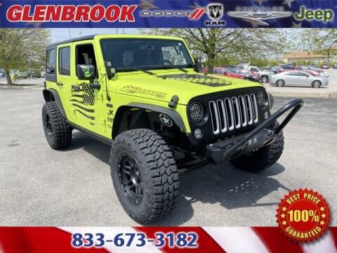 2016 Jeep Wrangler Unlimited for sale at Glenbrook Dodge Chrysler Jeep Ram and Fiat in Fort Wayne IN
