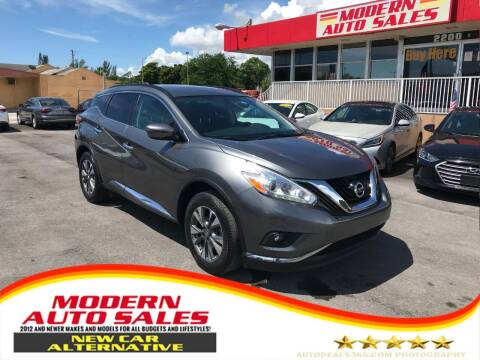 2017 Nissan Murano for sale at Modern Auto Sales in Hollywood FL