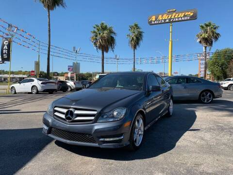 2013 Mercedes-Benz C-Class for sale at A MOTORS SALES AND FINANCE - 5630 San Pedro Ave in San Antonio TX
