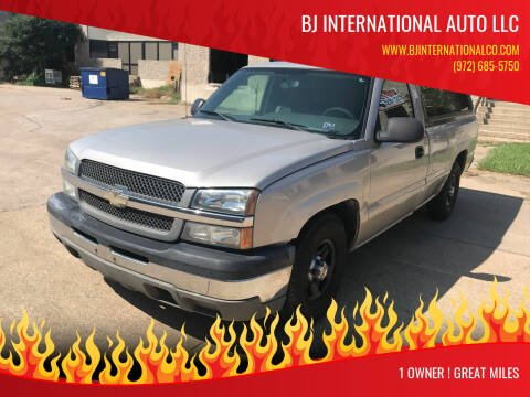 2004 Chevrolet Silverado 1500 for sale at BJ International Auto LLC in Dallas TX