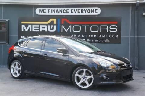 2012 Ford Focus for sale at Meru Motors in Hollywood FL