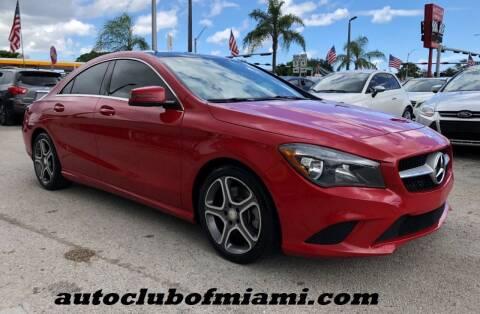 2014 Mercedes-Benz CLA for sale at AUTO CLUB OF MIAMI, INC in Miami FL